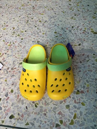 回力洞洞鞋沙滩鞋男夏季包头拖鞋男士女士情侣凉拖凉鞋 049 WXL-1066 黄色 38 晒单图