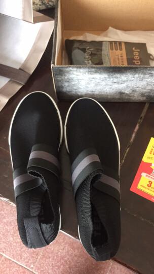 拉斯卡拉 男鞋运动休闲鞋子 男板鞋透气老北京布鞋男鞋套脚 xie 灰色 42皮鞋码 晒单图
