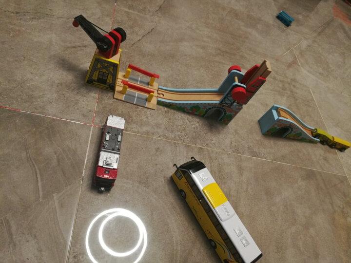 加拿大ACOOL 木制轨道配件 场景搭建配件吊车拱桥车库 单节宜家兼容 儿童托马斯轨道 AC7415 5.5直轨3个  5.5带钉斜坡1个 晒单图