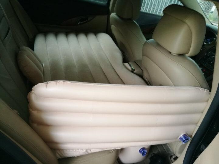 沿途 车载充气床汽车用后排充气床垫 分体式车震床 自驾游装备汽车旅行床气垫床 分体式-米色带护头挡 晒单图