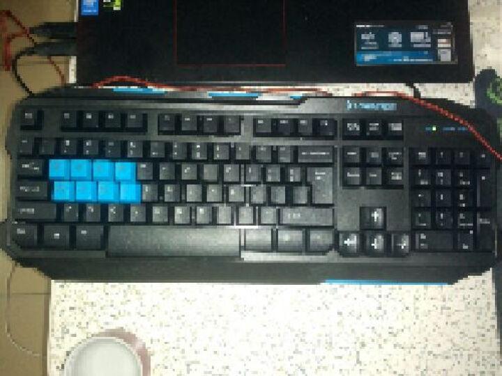 炫光键盘鼠标套装有线笔记本台式电脑USB游戏键鼠套装发光CF无声静音鼠标套件机械手感键盘 S8静音鼠标黑+K610A多彩RGB键盘银黑+耳机 晒单图