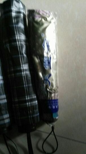 天堂伞 UPF50+双面柔粉亮胶丝印拼裙边三折晴雨伞太阳伞 香槟 30049ELCJ 晒单图