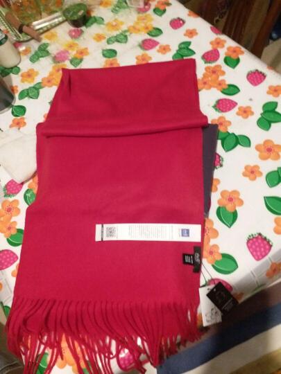 初荷 羊毛围巾女士冬季加厚欧美风秋季保暖围脖披肩两用礼盒包装 胭脂粉 晒单图
