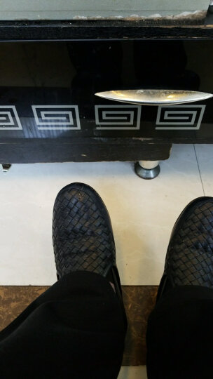 BOTTEGA VENETA宝缇嘉BV男鞋碧玺蓝编织羊皮休闲鞋368713 AA0D 4160 41.5 晒单图