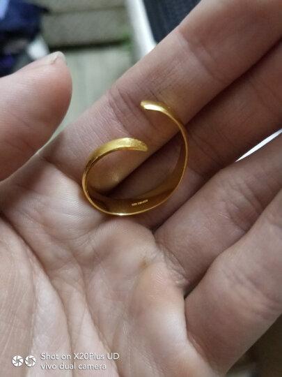 明牌珠宝 足金男女情侣对戒  经典光板款 黄金对戒戒指 AFM0009工费50 足金 活口对戒 约 女款 3.31克 晒单图