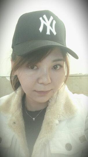 棒球帽子男女士春秋户外休闲情侣款鸭舌帽纯色可调节遮阳帽 白色金标 晒单图
