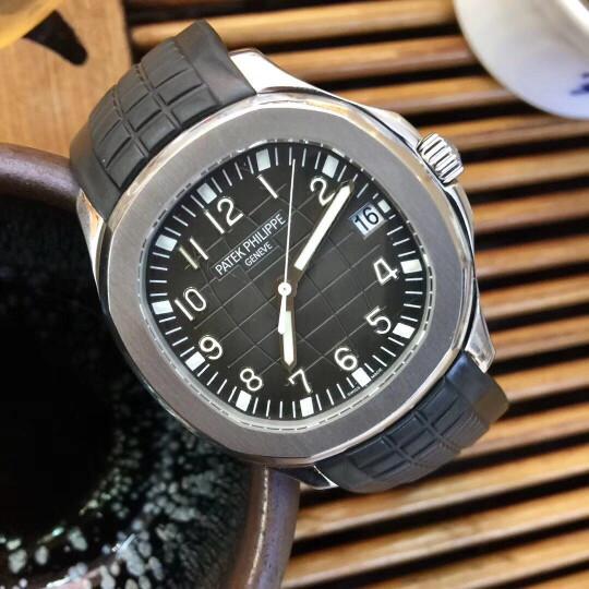【二手95新】百达翡丽男表AQUANAUT系列5167/1A-001男士腕表自动机械手表精钢40MM 黑色 40mm 晒单图
