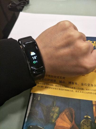 智能手环 心率血压男女运动计步彩屏手环手表来电提醒同步微信睡眠监测华为OPPO通用 黑色 晒单图