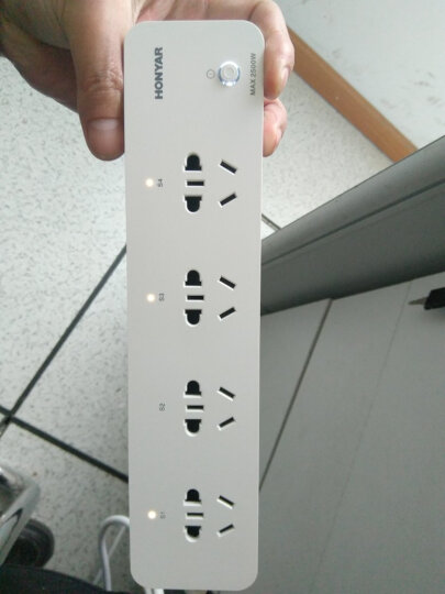 鸿雁(HONYAR)IHC8340B 智能家居插排接线板 独立开关WIFI手机遥控 定时智能排插 晒单图
