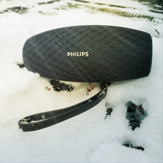 飞利浦(PHILIPS)BT6900 音乐小号角 防水蓝牙音箱 户外便携迷你音响 电脑桌面布艺低音炮 免提通话 黑色 晒单图