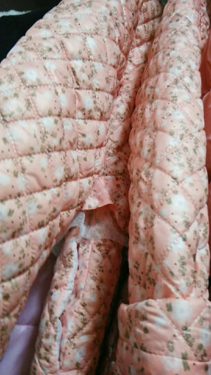 男女童棉衣中长款外套冬装加厚上衣2018年新款韩版儿童装 77029裸色 150cm 晒单图