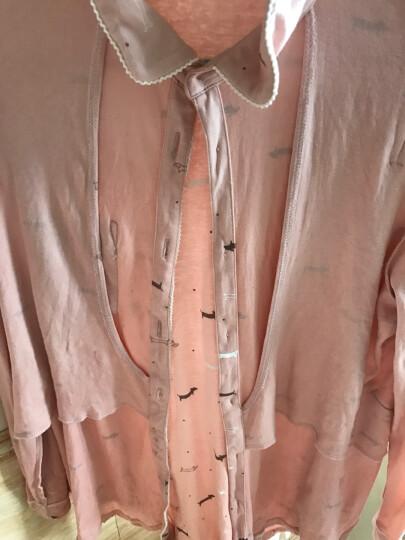 粉猫妈妈 月子服夏季纱布款孕妇睡衣哺乳衣外出装纯棉家居服套装090381、090325、090338 浅粉色-090325纯棉纱布夏款 L  建议120-135斤左右 晒单图