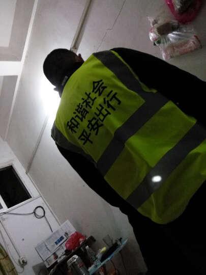 金刚牛反光背心马甲多口袋反光服1件印字高亮反光加厚涤纶布反光衣 荧光绿 晒单图