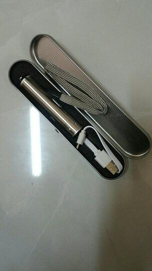 paulone 三合一USB充电不锈钢强光手电筒 点烟器打火机 多功能激光手电筒 YT1801银色 晒单图