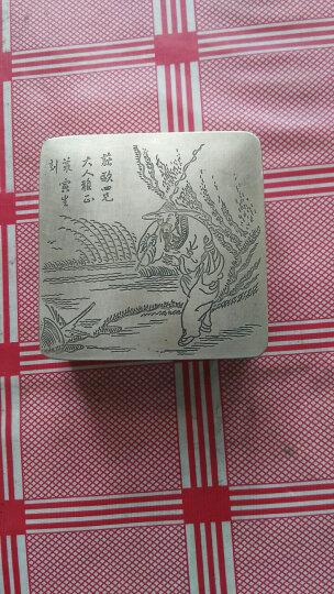 刘刘礼品文房四宝书画用品白铜墨盒铜墨盒 精雕细刻姜太公钓鱼墨盒 晒单图