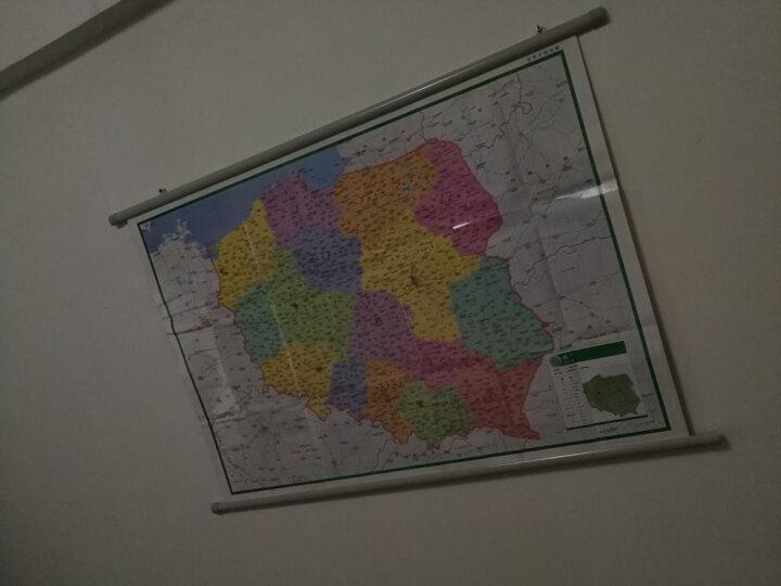 辉盛阁  中国世界地图专用挂杆海报写真油画日历装饰画挂钩挂条PU挂 2米长3厘米厚 灰半圆 配挂片 1.1米长 10套 晒单图