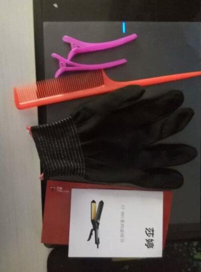 莎婷 专业陶瓷直发器拉直板夹玉米烫蓬松电夹板玉米须波浪烫发器垫发根 直发器(拉直、内扣、空气刘海) 黑色 晒单图