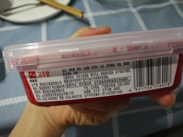 户户韩式辣酱200g石锅拌饭酱炒年糕酱韩国料理 晒单图