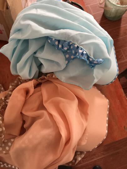 杰英仕遮阳帽子女防晒防紫外线太阳帽护颈户外骑行凉帽套装 圆点天蓝色(帽+口罩+披肩) 晒单图