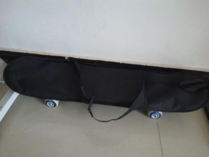 美洲狮(COUGAR) 美洲狮滑板专业双翘四轮滑板成人儿童刷街代步公路板 蓝色女神图案+背包+扳手 晒单图