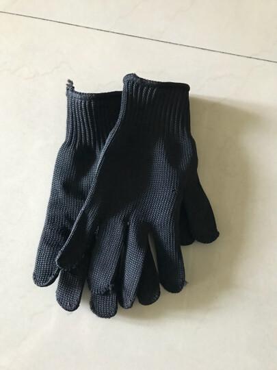 趣行 劳保点胶手套加厚耐磨 通用白线手套防护手套 高密度工地工作手套 劳防用品 4双装 晒单图