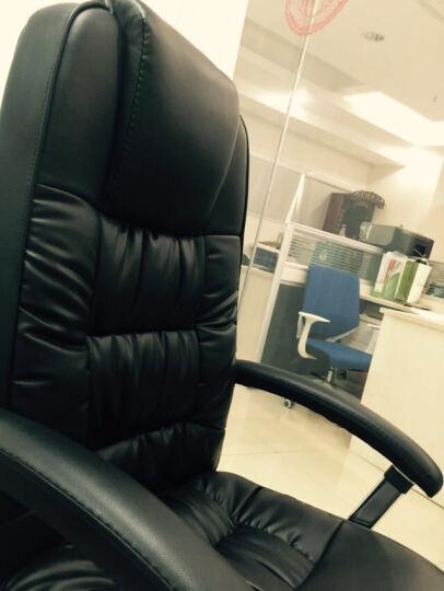 喜兔(Merry-Rabbit) 电脑椅家用老板椅办公椅皮椅转椅大班椅MR-9928 黑色-西皮 晒单图