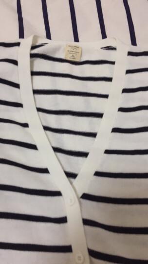 佐丹奴Giordano女装针织衫简约纯棉V领开胸针织衫05357726 03标志红色 加大码(170/88A) 晒单图