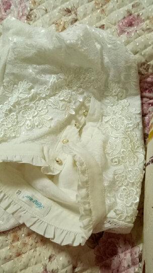 香芙曼加绒加厚长袖t恤2018秋冬新款女装花边高领蕾丝打底衫女50232 白色加绒加厚 2XL 晒单图