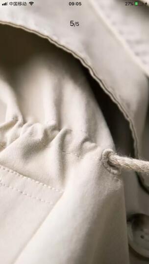 棉立方风衣女中长款韩版秋季2018新款薄款工装纯棉修身小个子外套 杏色 S 晒单图