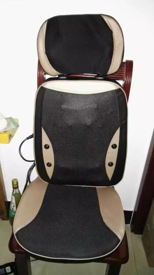 德国佳仁(JARE)666-6颈椎按摩器 按摩靠垫全身 颈部腰部肩部按摩椅垫 按摩仪 泰式震动版(金色) 晒单图