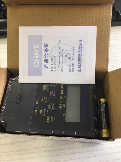 正泰(CHNT) 正泰电源定时器KG316T路灯微电脑时间控制器时控开关定时开关220v 晒单图