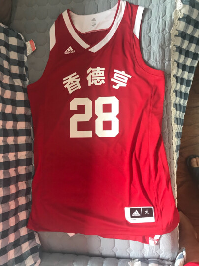 阿迪达斯 Adidas 无袖篮球服套装 青少年男款篮球背心短裤 团队DIY定制可印字印号 蓝白BQ7780/BQ7763单面 M(175/96A) 晒单图