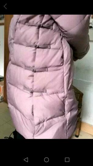 佑琴羽绒服女中长款2017冬季就新款复古中国风百搭气质修身气质外套 紫粉色 L 晒单图