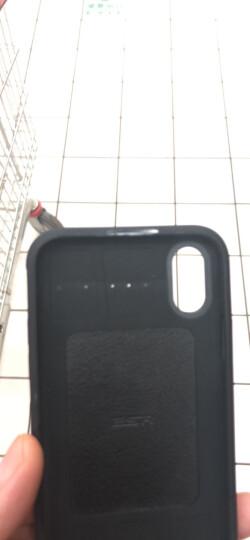 亿色(ESR) iPhoneX手机壳防摔 抗摔减震强保护款 苹果x手机壳保护套 逸航系列-锐黑 适用于iPhone X手机 晒单图