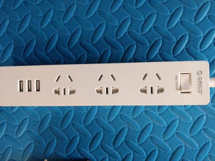 奥睿科(ORICO)XCS-3A3U 新国标3C认证 USB智能充电插座/插线板/接线板/排插/插排 总控开关 1.5m线长 白 晒单图