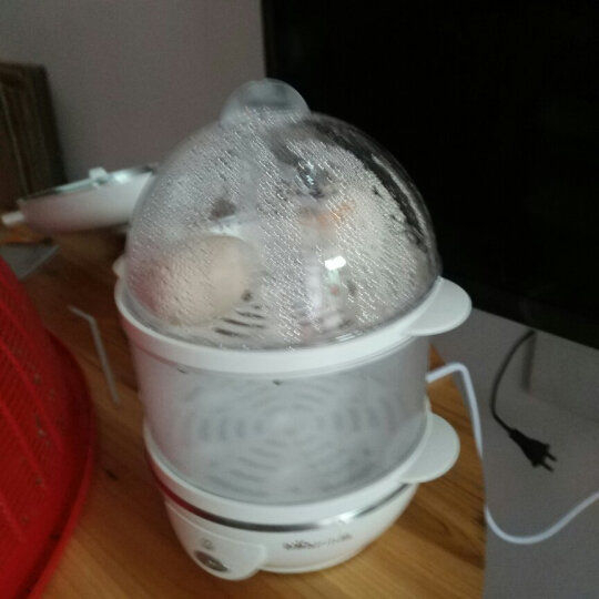 小熊(Bear)煮蛋器 蒸蛋器自动断电防干烧煮蛋机双层可煮14个蛋304不锈钢蒸碗 ZDQ-206 晒单图