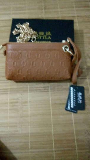 奥提拉(AOTTLA)女士钱包手拿包链条牛皮单肩斜挎手机包 棕色 晒单图