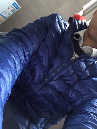 波司登男装 羽绒服男2017新款秋冬季轻薄男士青年保暖防寒商务休闲短款立领上衣 酒红 170 晒单图