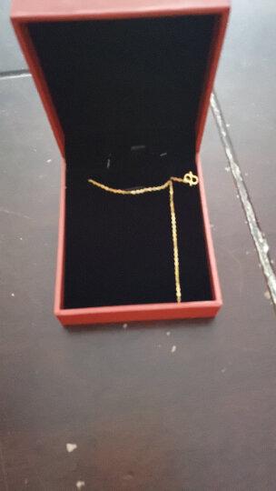明牌珠宝 足金精品细密O字链吊坠配件 黄金项链女款 AFR0017 工费50 足金项链 42厘米 约1.97克 晒单图