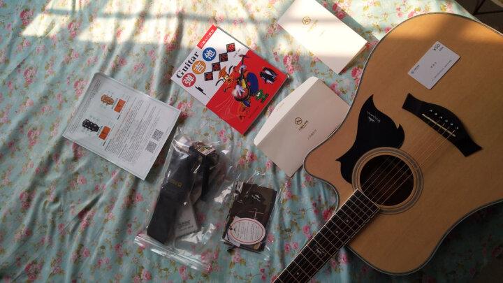卡马 kepma吉他41寸初学者入门民谣木吉它乐器 升级版 卡马A1C黑色电箱 晒单图
