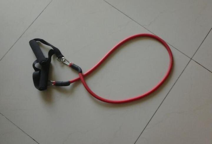 sengka一字拉力器拉力绳臂力器扩胸器 弹力绳健身器材家用健身用品 25磅黄色 晒单图