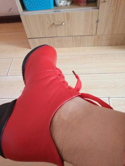娇百惠舞蹈鞋女秋冬新款爵士跳舞鞋真皮软底水兵现代舞广场舞鞋子 黑色加绒 39 晒单图