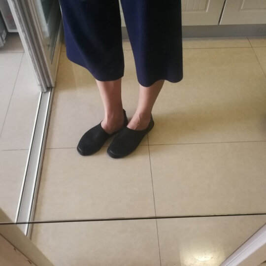 素人原创设计 个性鱼嘴前尖船鞋凉鞋 手工配皮 17CWY012 黑色 35 晒单图
