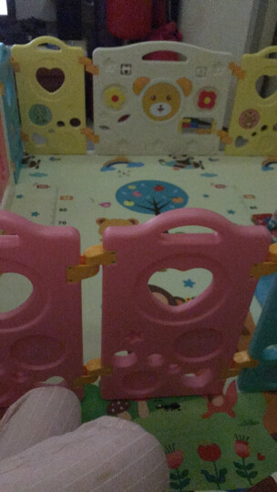 澳乐 儿童游戏家用室内围栏婴儿爬行学步围栏宝宝安全防护栏栅栏围栏 16+2 AL-E40855414 晒单图