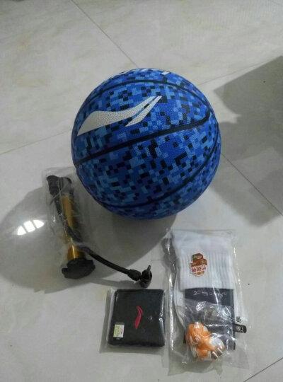 李宁LI-NING篮球7号球防滑室内外耐磨成人幼儿园儿童训练比赛球 7号发泡橡胶篮球蓝色 晒单图
