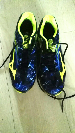 Mizuno美津浓男女款减震耐磨防滑排球鞋LIGHTNING Z4 V1GA180000 V1GA180000(黑/荧光黄/紫罗兰)) 44.5 晒单图