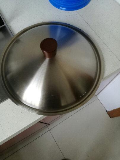 艾美仕精铁节能炒锅30cm氮化真不锈无涂层炒锅电磁炉燃气通用不锈钢盖ATH3003 晒单图