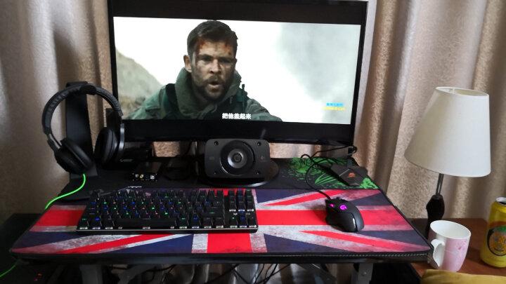 新盟 超大号鼠标垫细面键盘垫电脑桌垫守望先锋LOL游戏卡通加厚锁边包边长布垫 米字旗800*300mm 晒单图