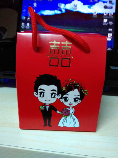 幽幽兔 结婚用品喜糖盒糖果盒可装烟糖果袋手提回礼袋 花样年华一包 小号50个装 晒单图