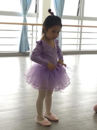 卡维妲(KAWEIDA) 儿童舞蹈服装芭蕾舞裙 女童舞蹈服练功服短袖女孩舞蹈裙跳舞衣演出服 爆款紫色长袖款 110适合身高105-115cm 晒单图